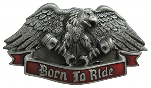 (Born To Ride Eagle Belt Buckle)