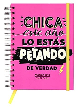 Pedrita Parker 414 - Agenda anual semanal 2018, color rosa