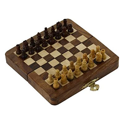 Folding Travel Chess Set And Board Wooden Unique Gifts