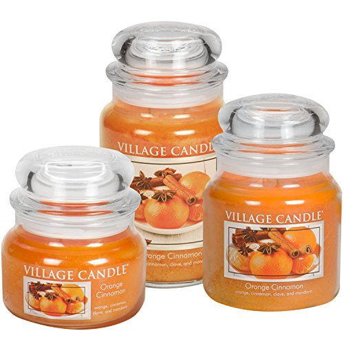 Village Candle Orange Cinnamon 16 oz Glass Jar Scented Candle, Medium by Village Candle (Image #1)