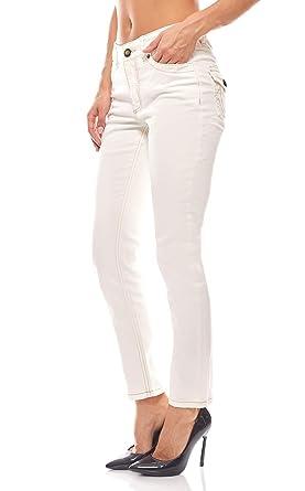 Hose Trend Jeans Damen Kurzgrößen Denim Travel Couture Weiß,  Größenauswahl 34 (17 Kurzgröße 77c018a29f