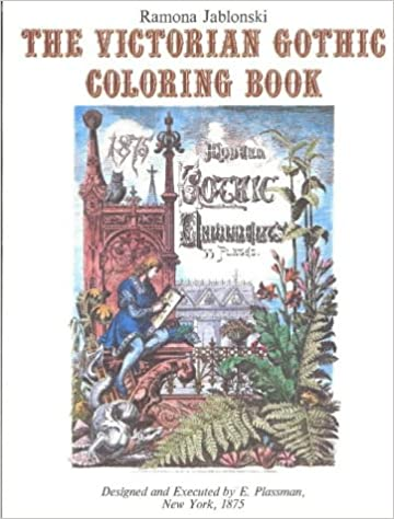 the victorian gothic coloring book international design library ramona jablonski 9780916144821 amazoncom books - Gothic Coloring Book