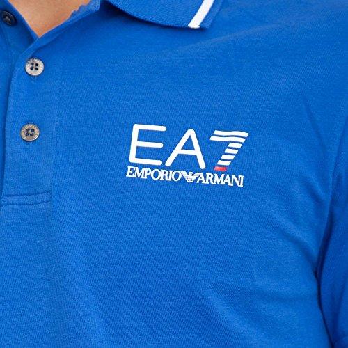Ea7 Train Core Id Short Sleeved Polo XL ROYAL BLUE