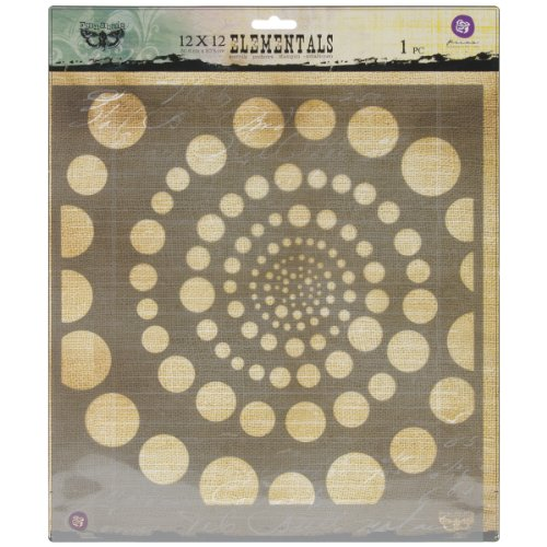 Prima Marketing PSTEN-60490 Elementals Stencil, 12 by 12-Inch, Spiral