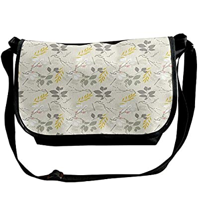 InterestPrint Sun and Moon Mens Womens Messenger Bag Crossbody Shoulder Bags for School Traveling Black