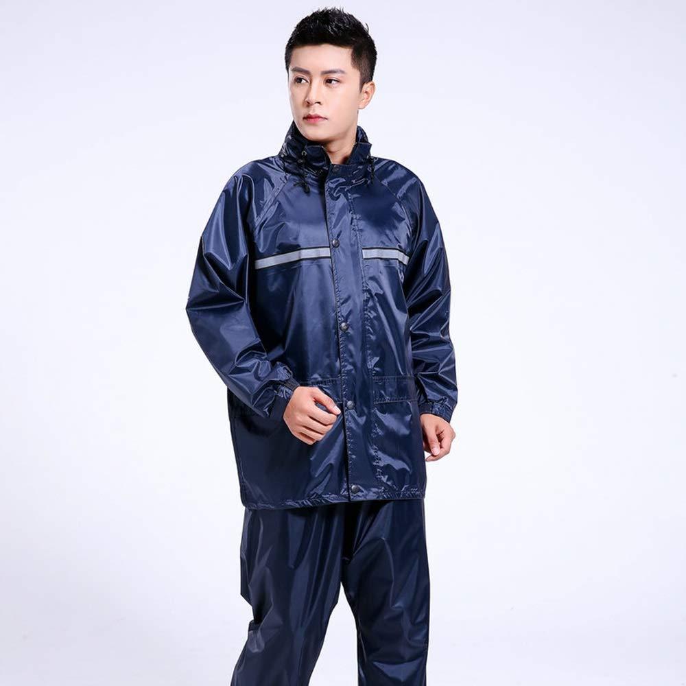 XXXL Imperméable double couche Split adulte imperméable voiture électrique imperméable imperméable pantalon de pluie imperméable imperméable à l'eau pluie costume Parapluie ( Taille   XXXXL )