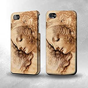 Apple iPhone 5 / 5S Case - The Best 3D Full Wrap iPhone Case - Leonardo da Vinci Woman's Head