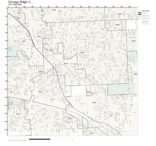 ZIP Code Wall Map of Chicago Ridge, IL ZIP Code Map - Ridge Chicago