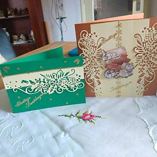 Flower Border Die Cut for Card Making, Cutting Dies for DIY Scrapbooking Album Gift Box Decor (Silver Metal Stencil)]()
