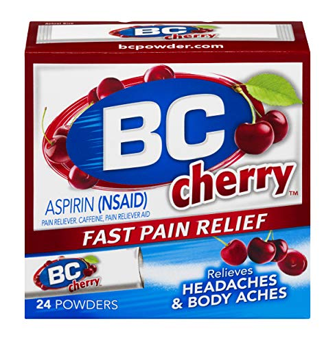 BC Powder   Fast Pain Relief   Aspirin (NSAID) & Caffeine   Cherry   24 CT   2 Pack