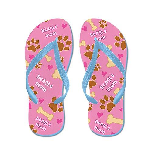 Cafepress Beagle Mom Cadeau Slippers - Flip Flops, Grappige String Sandalen, Strand Sandalen Caribbean Blue