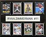 MLB Washington Nationals Ryan Zimmerman 8-Card Plaque, 12 x 15-Inch
