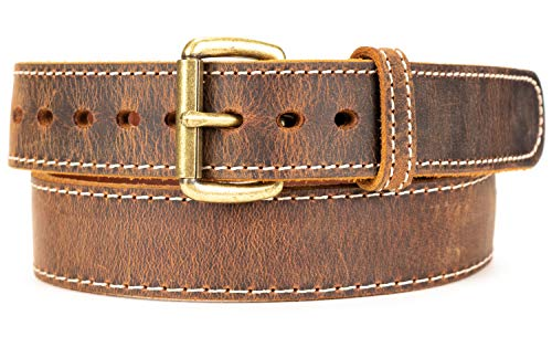 Daltech Force Distressed Steel Core American Bison Leather Gun Belt