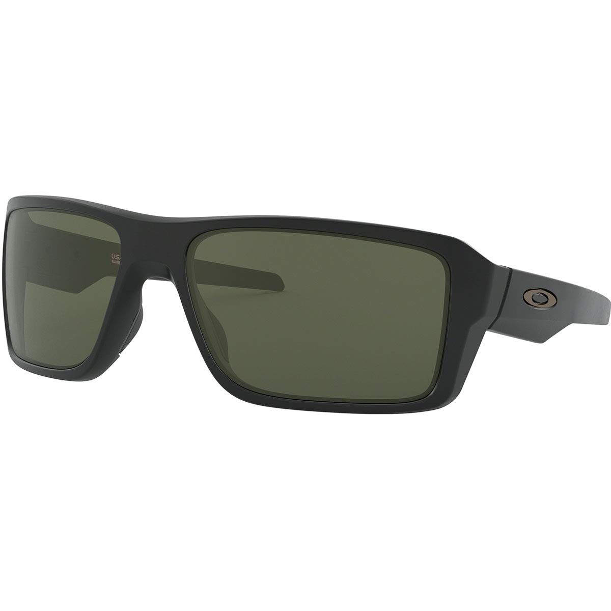 Oakley Men's OO9380 Double Edge Rectangular Sunglasses, Matte Black/Dark Grey, 66 mm by Oakley