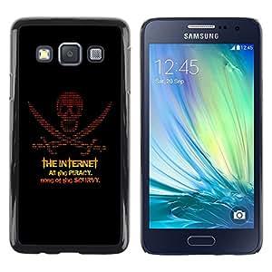 TopCaseStore / la caja del caucho duro de la cubierta de protección de la piel - The Internet Piracy - Samsung Galaxy A3 SM-A300