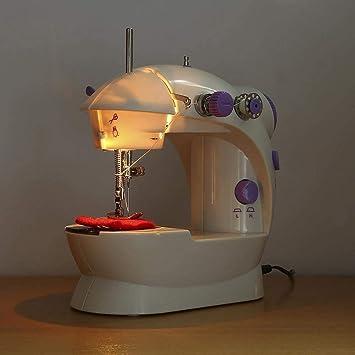 LWYJ Mini Máquina De Coser Eléctrica, Pedal Y Velocidades Dobles, Hilos Dobles Ajustables, para Máquina De Coser Pequeña para Principiantes FR03: Amazon.es: Hogar