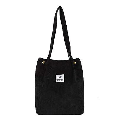 pas cher pour réduction b5b6c f0719 QPZYB Mode plein velours côtelé sacs à bandoulière environnement sac cabas  emballage bandoulière sacs porte-monnaie Casual sac à main pour les femmes