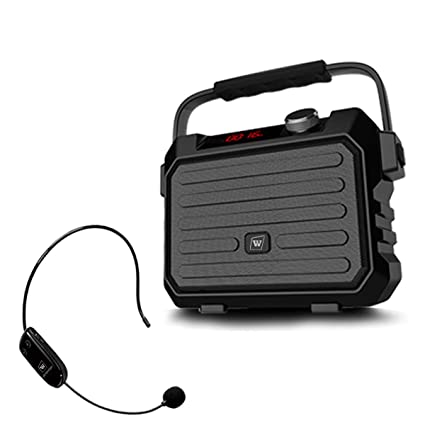 Wireless Voice Amplifier with UHF Mic Headset 18W 4400mAh Rechargeable 80001