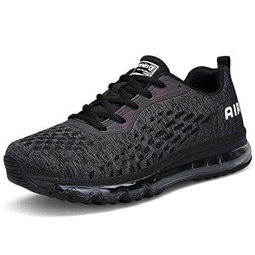 Casual Nero Uomo Sportive Fitness da Sneakers Unisex Donna Ginnastica Scarpe Running happygo Shoes Basse YXPFROHx