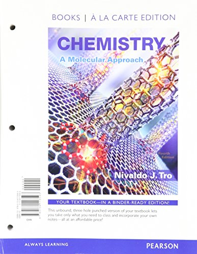 Chemistry: A Molecular Approach, Books a la Carte Plus MasteringChemistry with Pearson eText -- Access Card Package (4th Edition)
