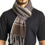Alpine Swiss Mens Plaid Scarf Soft Winter Scarves Unisex,Fall Plaid,One Size