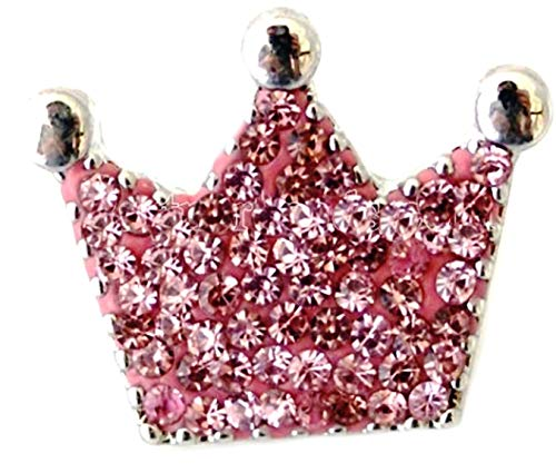 Rockin Angels Pink Rhinestone Crown Royal 20mm Snap Charm Jewelry for Ginger Snaps