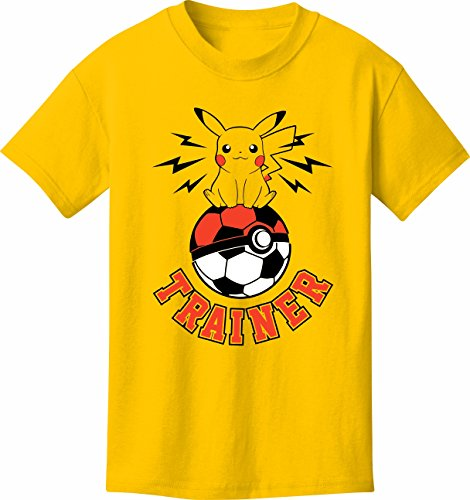 Soccer T-Shirt: Pokemon Go Fans Soccer Trainer Youth Small