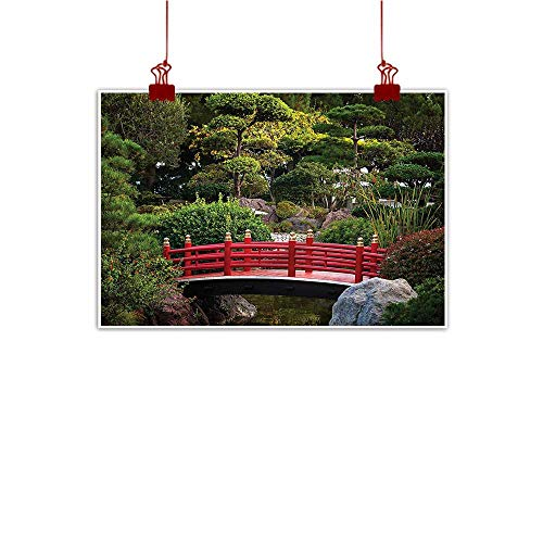 Garden Music Oriental Box - Mangooly Decorative Music Urban Graffiti Art Print Japanese,Oriental Garden with Trees 24