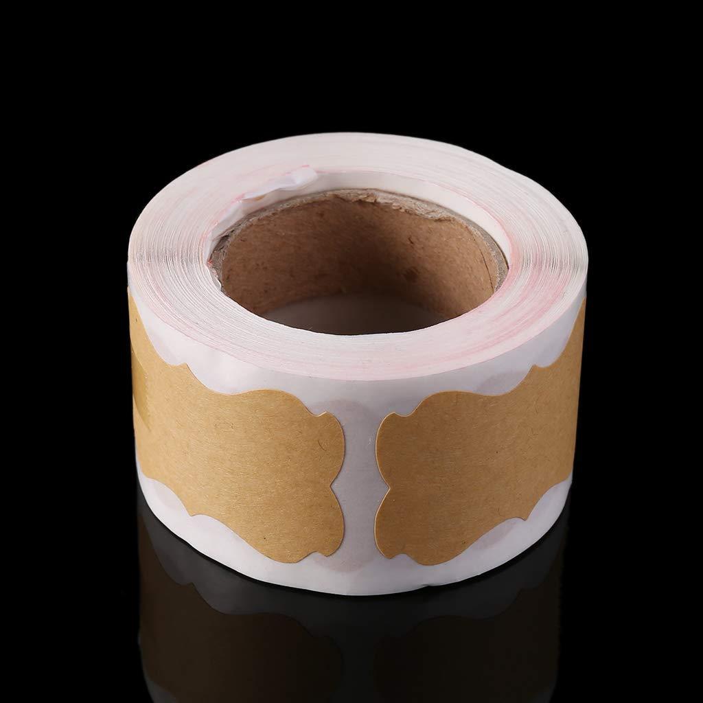 Aeeking Premium Qualit/é 300 pcs Vintage Kraft /Étiquette /À La Main /Étanch/éit/é Autocollant Pour Cadeau G/âteau Cuisson /Étanch/éit/é Emballage DIY