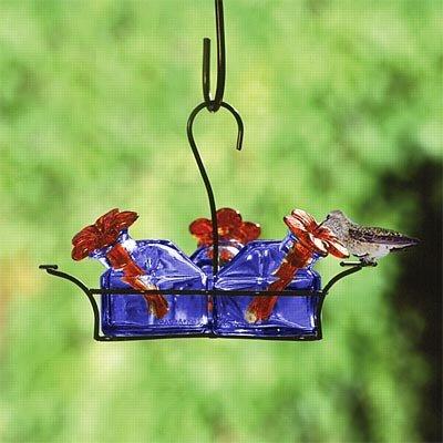 (Parasol Bouquet-3 Hummingbird Feeder, Blue, 10.5 oz. )