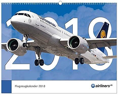 Calendario Attuale.Airliners De Aereo Calendario 2018 Grande Formato 48 Cm X