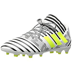 adidas Boys' Nemeziz 17.3 FG J Soccer Shoe, White/Solar Yellow/Black, 3.5 Medium US Little Kid