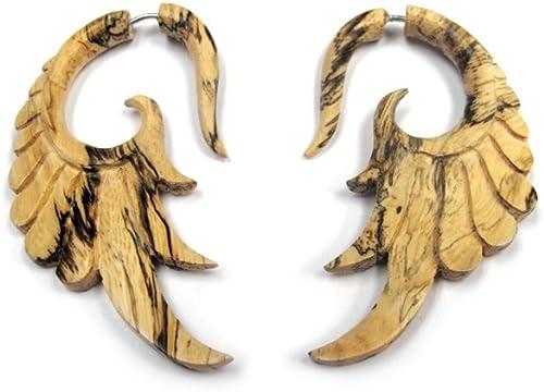 Wood earrings Fake gauge earrings Talon Wood Earrings Wood faux taper,Wood taper Faux piercing earrings Fake taper Fake spike earrings