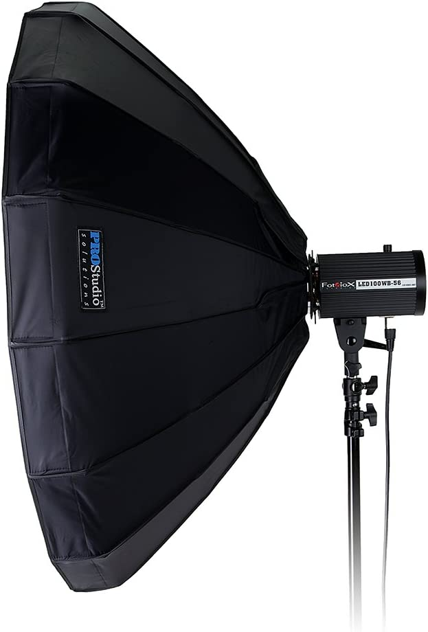 Soft Collapsible Beauty Dish with Speedring for Bayonet Mountable Strobe Flash and Monolights 100cm Beauty Dish and Softbox Combination w//Multiblitz P Speedring Pro Studio Solutions EZ-Pro 40in