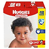 Branded Huggies Snug & Dry Diapers - Diaper Size 3 - 240 Ct. ( Weight 16- 28 Lbs.) (Bulk Qty at Whoesale Price, Genuine & Soft Baby diaper)