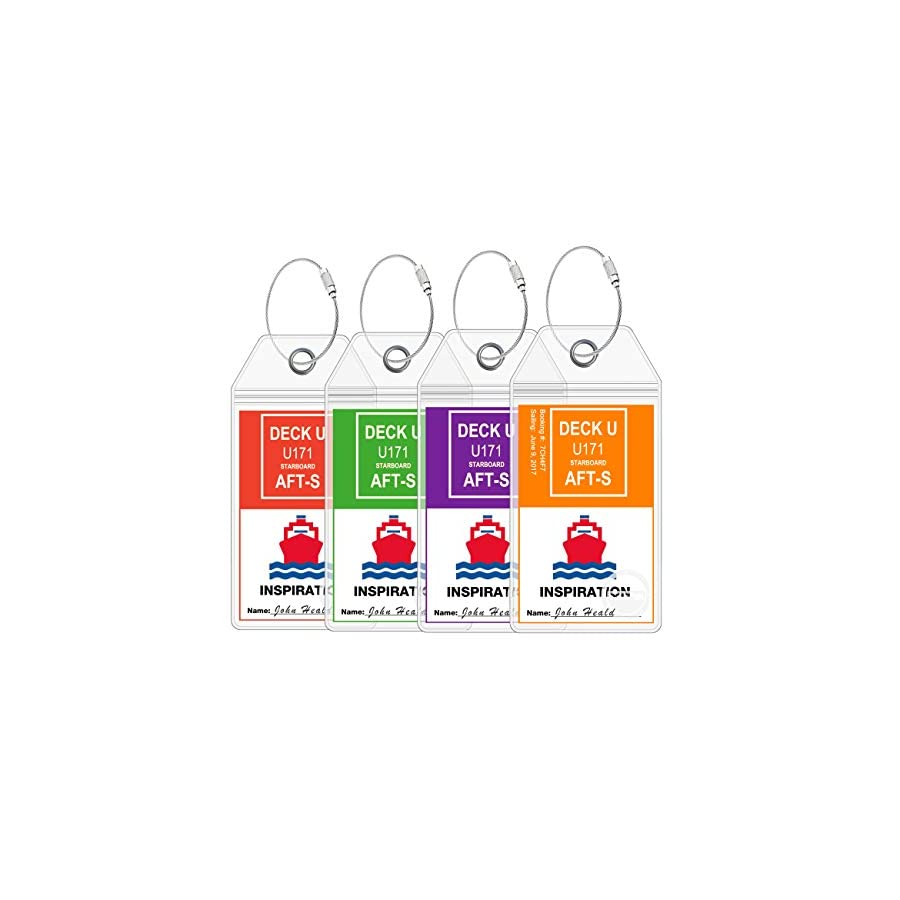Cruise Ship Luggage Tags eTag Holders by Cruise On