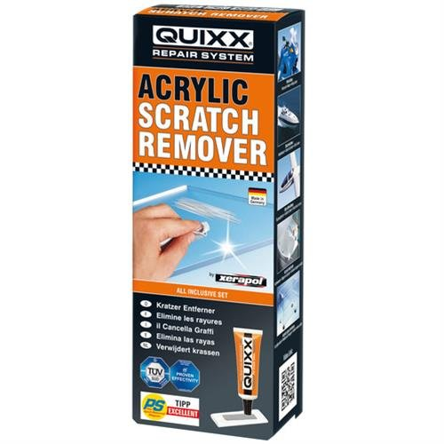 Quixx-Xerapol, acrylic scratch remover For acryl and plexiglass. Removes scratches from car lights, cokckpit, motorcycle windshield, caravan and boats windows