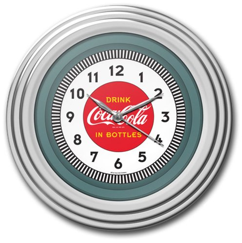 Coke Gift - Coca-Cola Chrome Clock, 12
