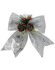 Allgala Christmas Decorative Bows for Wreath Garland Treetopper Christmas Tree