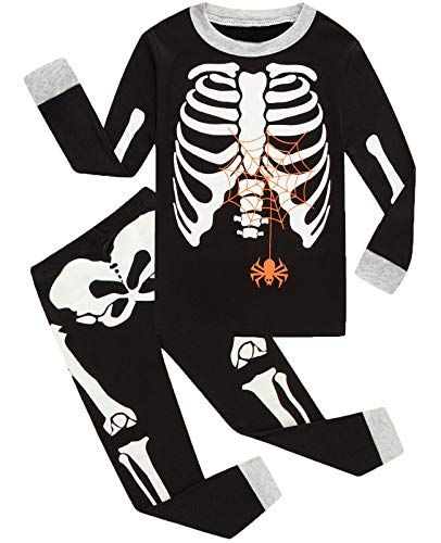 Little bety 100% Cotton Boys Halloween Pajamas Glow in The Dark Toddler Pjs Kids Sleepwear -