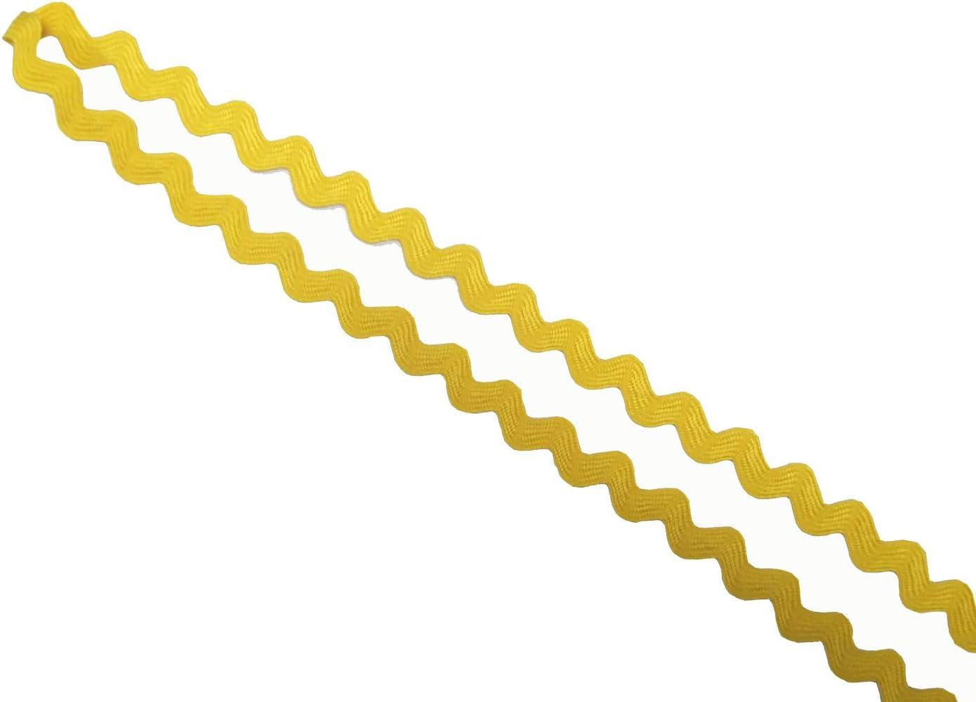 verschiedene Farben erh/ältlich 7mm-White Rick Rack Trim f/ür Bastelarbeiten
