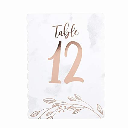 WEDDING TABLE NUMBERS 1-8 PLUS TOP TABLE FREE STANDING