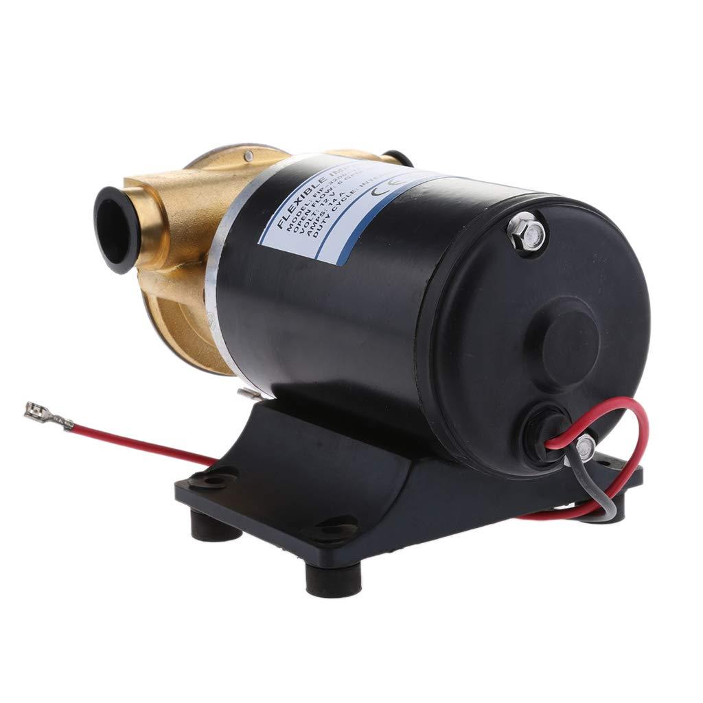 24mm Inlet//Export Caliber B Blesiya 12V Washdown Pump Kit Wash Down Set 30L//min for Marine Boat Deck Anchor