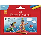 Massa de Modelar Base Cera com 12 Cores, Faber-Castell, 22.0312MM, Multicor