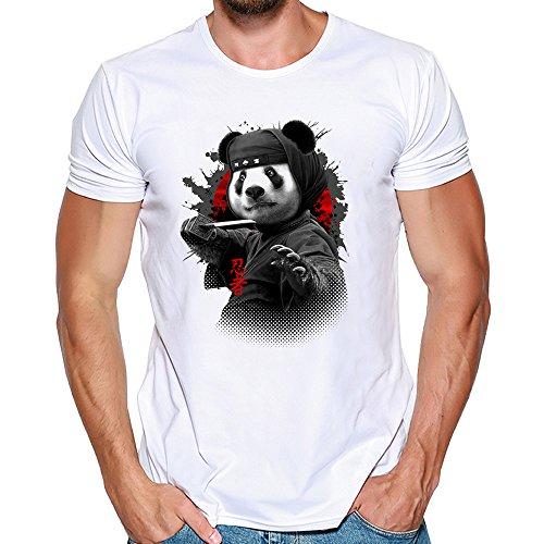 Camisas Hombre Lanskirt Blusas de Manga Corta Hombre 3D ImpresioN DepatroN de Panda Lindo Sudaderas con Cuello Redondo y Tallas Grandes T Shirt Tops de Verano Casual 3XL