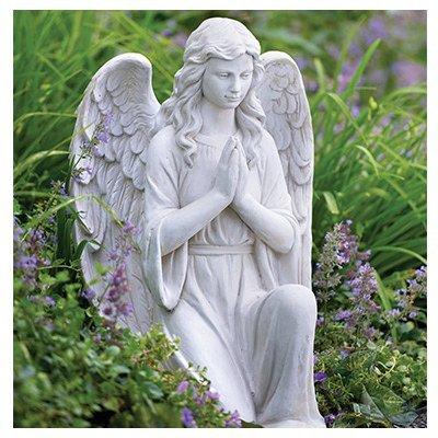 """G22903AA 27"""" Kneel Angel Statue,"""