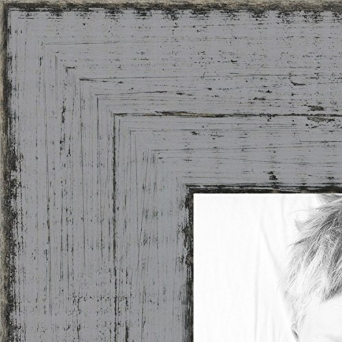 distressed gray wood picture frame