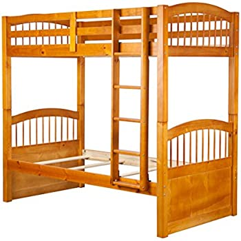 Amazon Com 100 Solid Wood Triplet Twin Over Twin Bunk