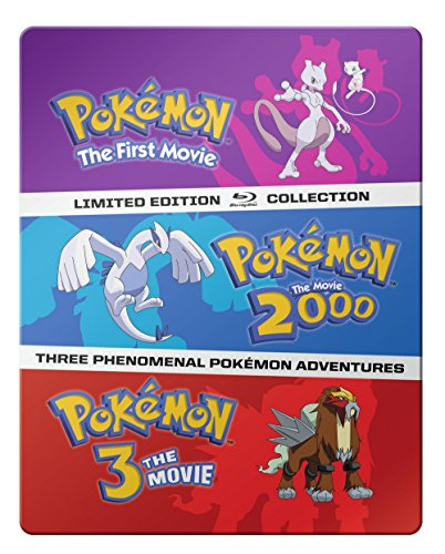 Pokémon: The Movies 1-3 Steelbook Blu-ray Collection (Pokemon 3 Movie)