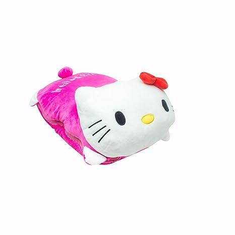 Greforest plaid e cuscino rosa di visone di hello kitty kashmir di